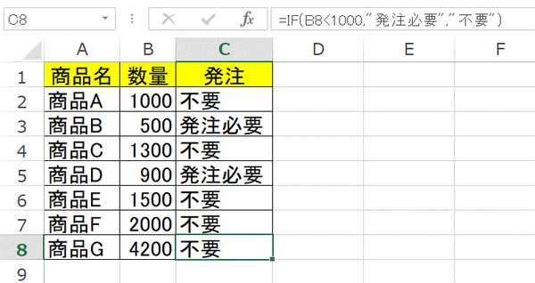 IF関数の説明2